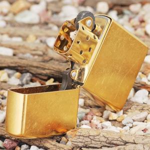 Zippo Gold Dust -Zippo đồng vàng xước trơn bóng-Mã: 207G