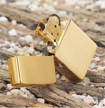 Zippo Brushed Brass Solid-Mã: 204B
