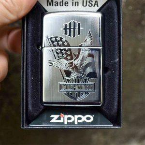 Zippo High Polished Chrome-Mã: 250- zippo khắc đại bàng