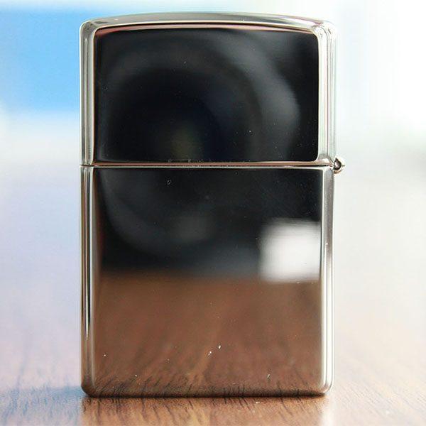 -zippo khắc chữ nhẫn-Zippo High Polished Chrome-Mã: 250-Zippo khắc tiền, zippo khắc đô la