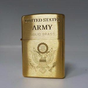 Zippo khắc Logo quân đội mỹ-Mã: 204KS-204