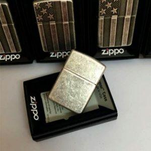 Zippo Armor – US Flag – Antique Silver Plate - Mã: 28974