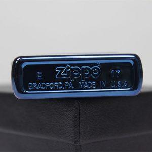 Zippo High Polish Blue - Mã: 20446-Zippo Xanh Saphia khắc sâu CNC thuận buồm xuôi gió-Mã: 20446TB