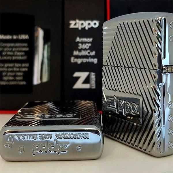 Zippo Armor Multicut Bolts and Flame High Polish Chrome- Mã: 29672