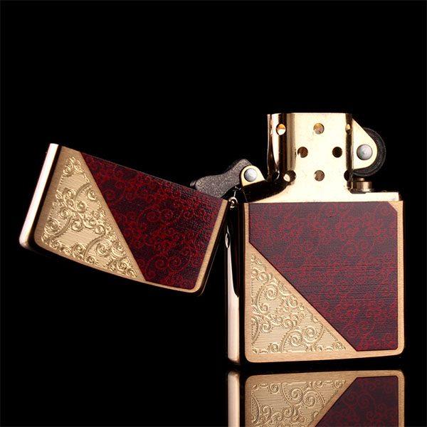 Zippo Damask Brushed Brass - Mã: 28377