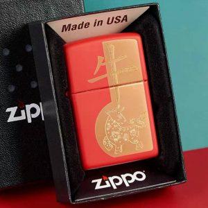 Zippo 49233 – Zippo Year of the Ox Red Matte