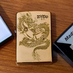 Zippo Brushed Brass -204B