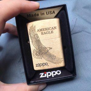 Zippo Brushed Brass -Zippo 204B